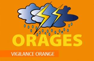 Alerte de niveau orange le dimanche 3 juin 2018