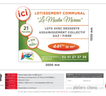 Le lotissement communal en construction