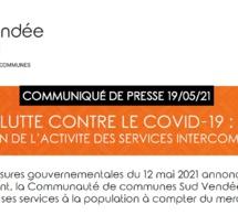 L'évolution de l'activité des services intercommunaux.